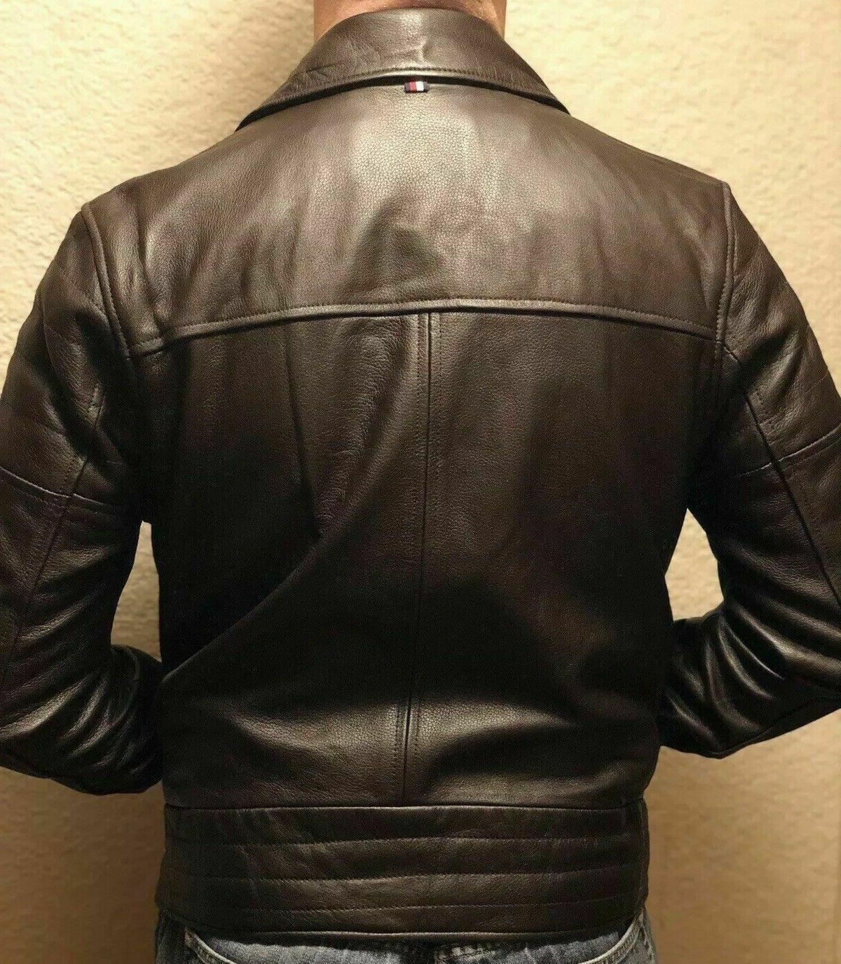 NWT TOMMY HILFIGER FALL LEATHER JACKET Retail