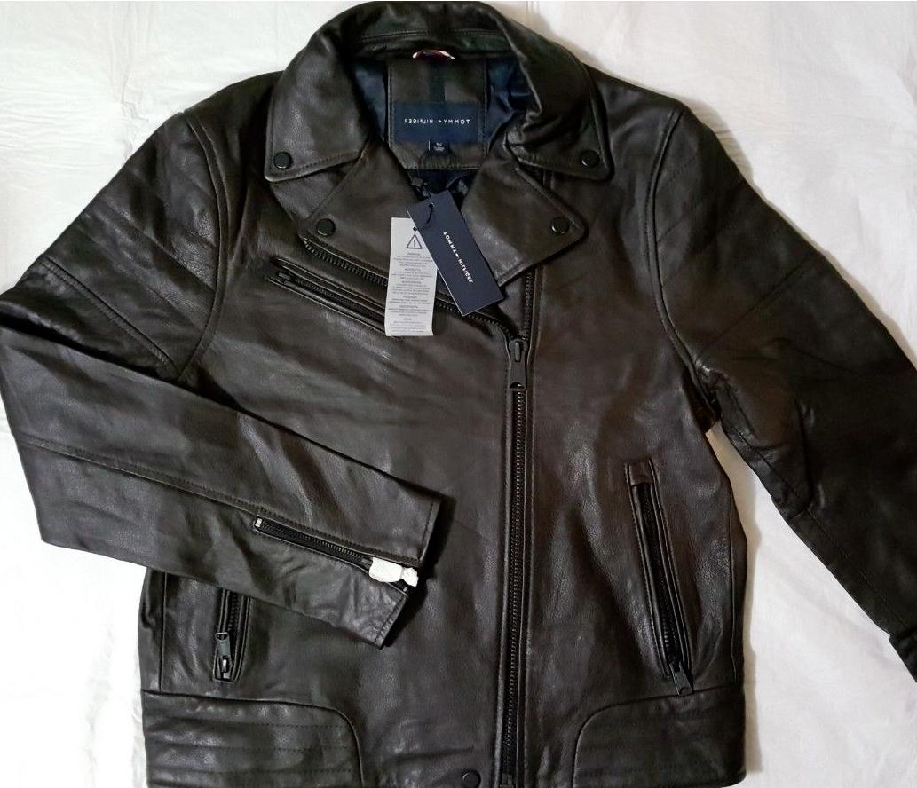 nwt men s fall brown leather moto