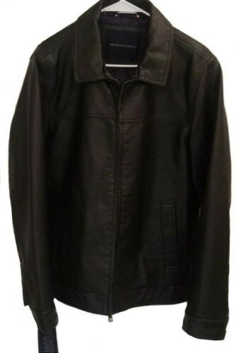 nwt men s faux leather jacket