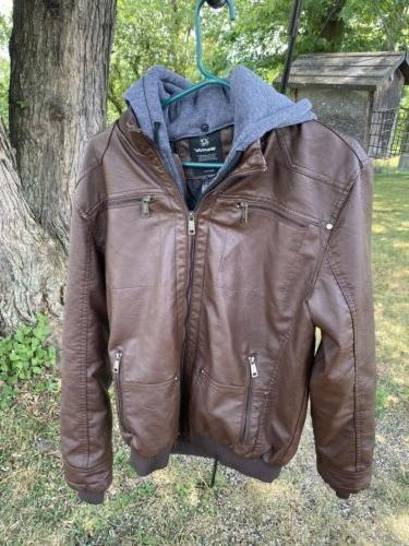 nwt men s winter warm faux leather
