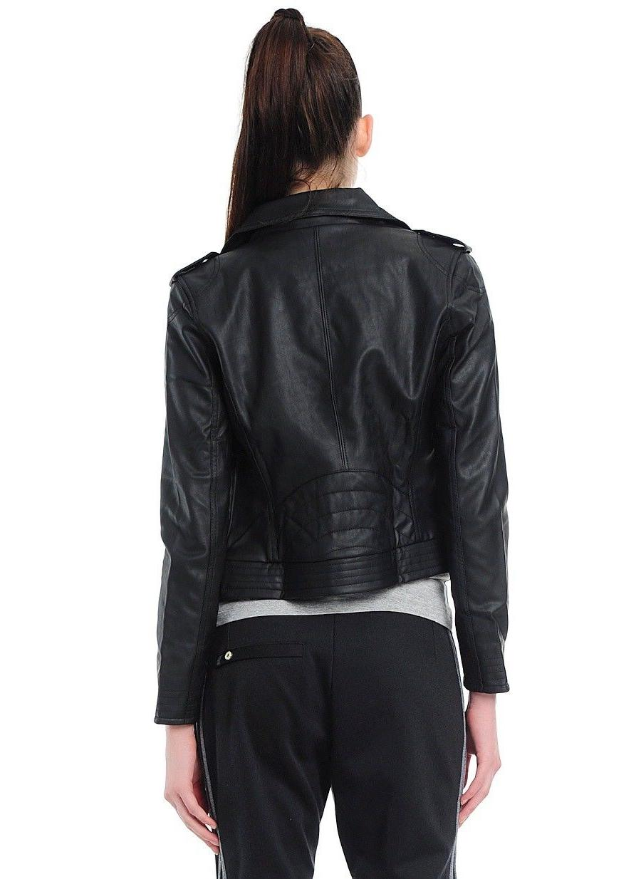 Adidas Originals Women Faux Biker Black