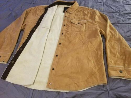 outer wear suede style faux leather jacket