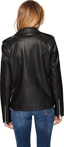 Levi's Leather Belted Motorcycle Jacket, Black, S