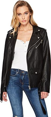 Levi's Women's Oversized Faux Leather Belted Motorcycle Jack