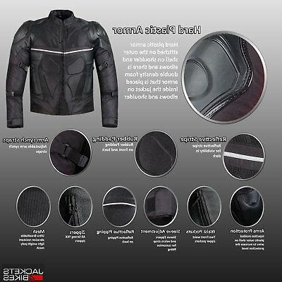 PRO LEATHER MESH MOTORCYCLE WITH EXTERNAL