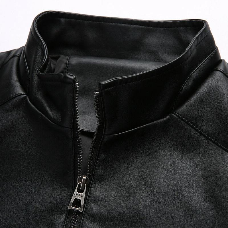 PU leather Men's Jackets Outerwear Clothing
