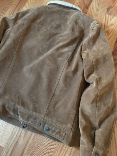 Suede Leather Jacket NWT