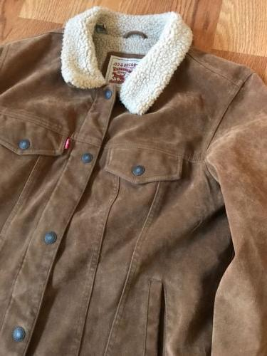 Size Suede Sherpa Jacket Rare
