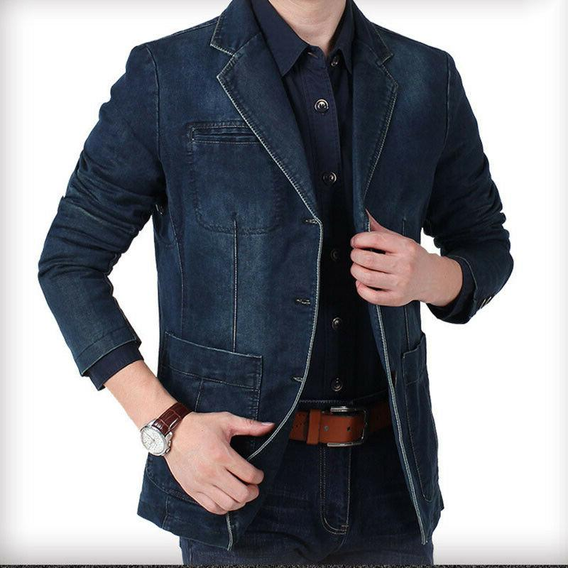 SPRING SLIM LEATHER JEANS DENIM CASUAL TOPS