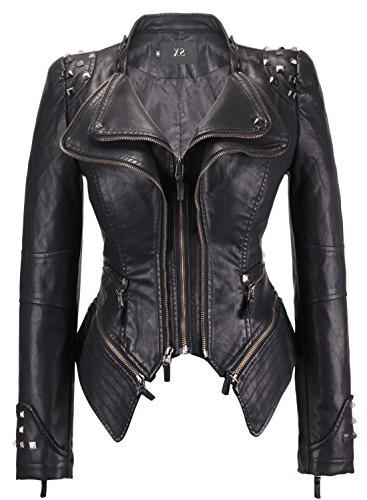 studded perfectly shaping faux leather