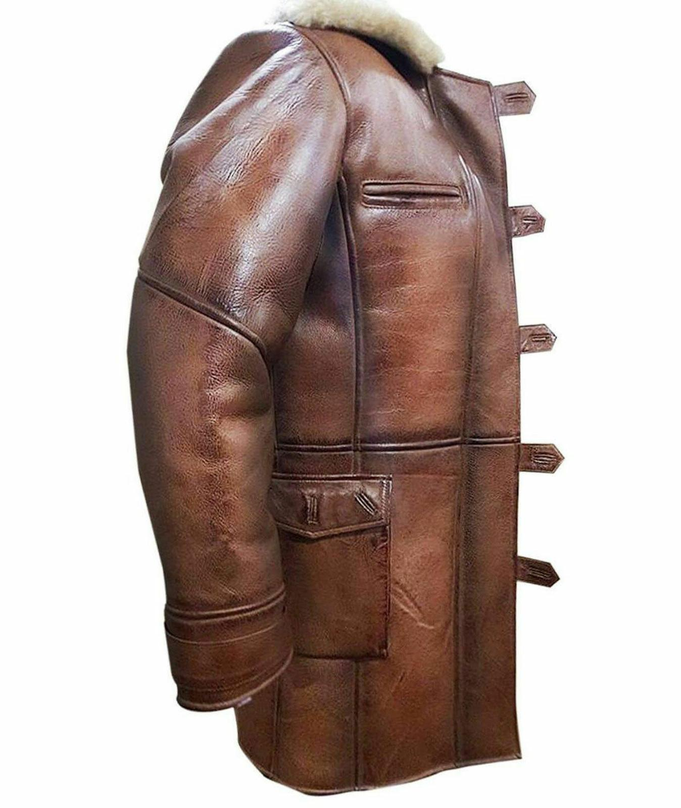 The Dark Rises Tom Faux Leather Trench Jacket