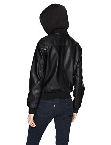 Levi's Women's Faux Leather Jacket, Black,