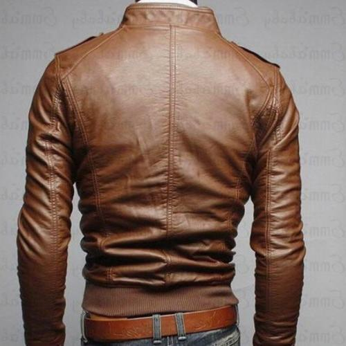 Collar Fit Leather Outwear