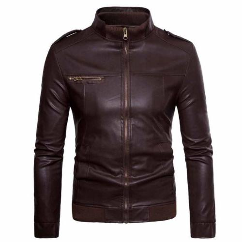 US Men's Collar Leather Outwear