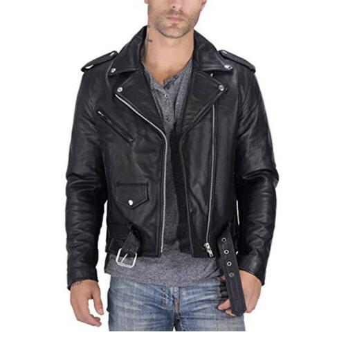 US Men's PU Faux Leather Jackets Slim Motorcycle Biker