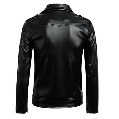 US Leather Coats Jackets Motorcycle Zipper