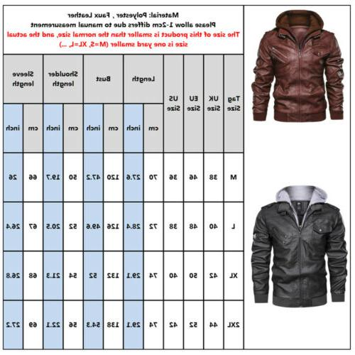 US Leather Hooded Coat