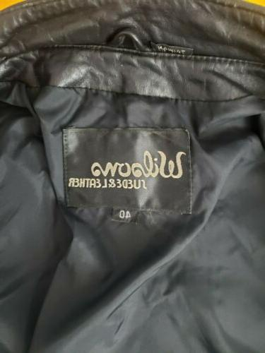 Vintage Wilsons Mens Motorcycle Jacket Size 40 Small S