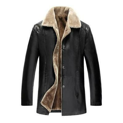 Winter Fur Mens 5XL Suede Jackets Faux Fur