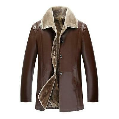 Winter Fur Mens Suede Leather Jackets Men Faux
