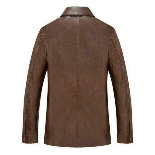 Winter Warm Real Leather Men Thick Jackets Hot