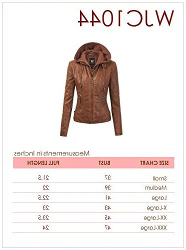 WJC1044 Leather Hoodie