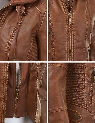 WJC1044 Quilted Jacket Hoodie Camel