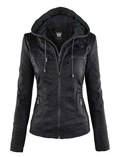 wjc663 removable hoodie motorcyle jacket