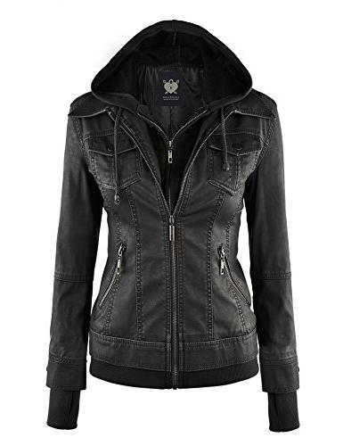 wjc664 faux leather jacket