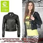 women bomber leather biker jacket motorcycle zipper
