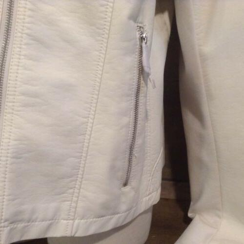 Kenneth Cole Ivory zip Jacket SIZE XXL NEW