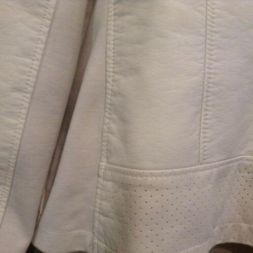 Kenneth Cole Ivory full zip Jacket SIZE NEW NW