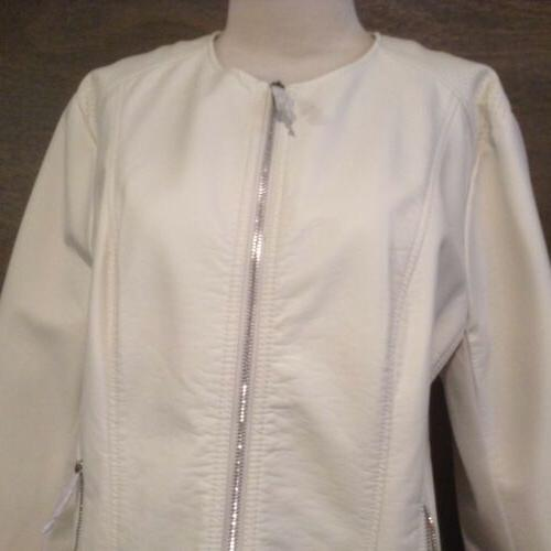 Kenneth women's Ivory full zip Jacket NEW