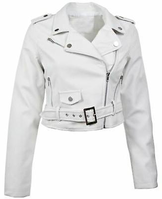 women s juniors fashionable cropped faux leather