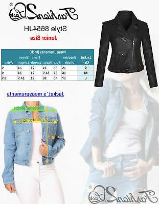 Women's Leather Biker with