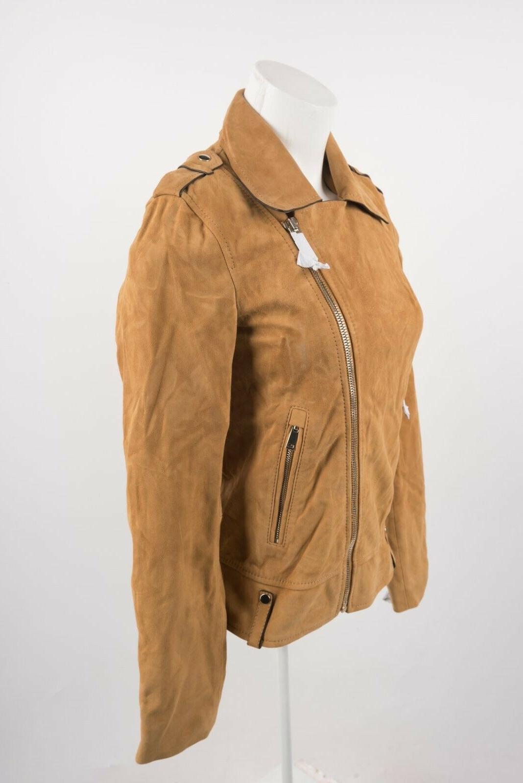 Massimo Biker Coat XS X-Small Camel Fit NWT