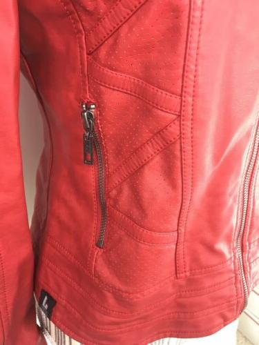 Made Small Jacket Red Faux Theater Greese
