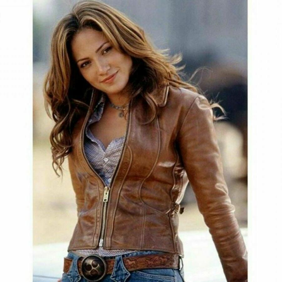 womens biker motorcycle vintage distressed brown real