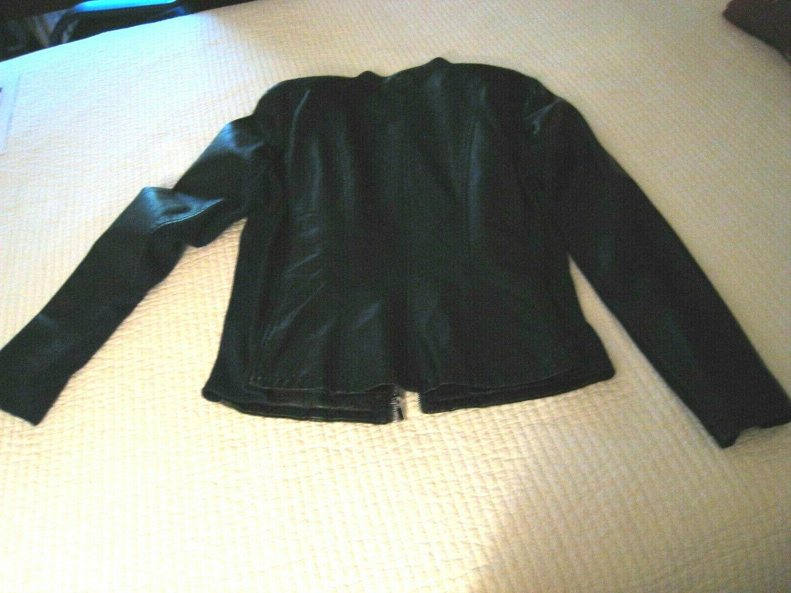 Kenneth Reaction Black Leather Size Zip NEW
