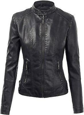 Lock and Love Hooded Leather Jacket $60 FTC#302