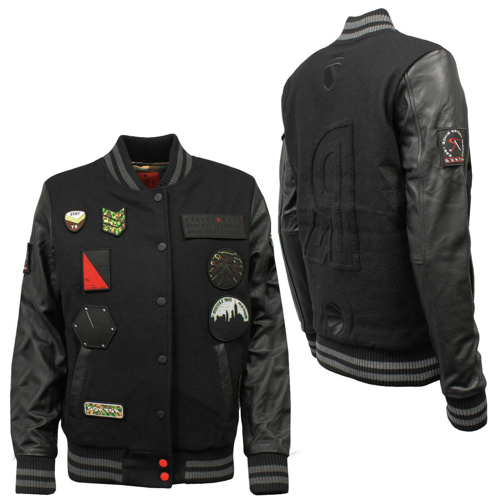 Pony X Rothco Wool Leather Varsity Jacket Mens  R2