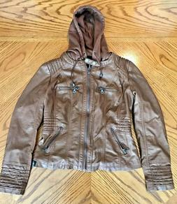 Made By Johnny Los Angeles Ladies Medium Brown Faux Leather