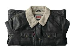 Levi's Classic Faux Leather Sherpa Trucker Levis Jackets Dar