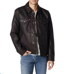 Levi's - Classic Faux Leather Trucker Jacket dark brown / L