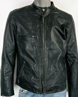 Levi's Leather Moto Racer Biker Jacket Nightwatch Blue Levis