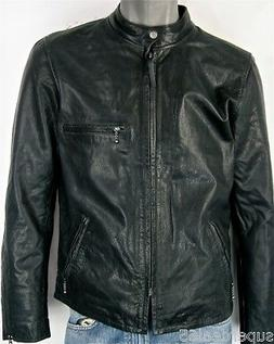 Levi's Leather Moto Racer Biker Jacket Nightwatch Blue Levi