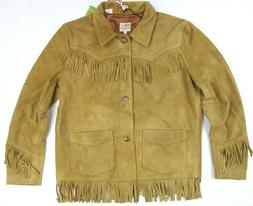 Levi's LVC Suede Leather Fringe Jacket  Slim Fit Made In Ita