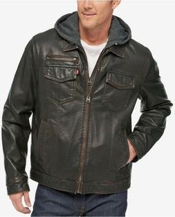 levi s men s brown faux leather