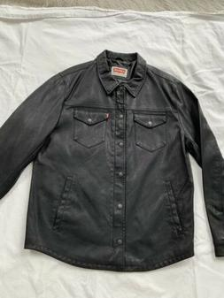 Levi's NEW Smooth Lamb Touch Faux Leather Shirt Jacket FREE