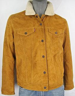 Levi's Suede Leather Sherpa Trucker Jacket with Lining  Levi